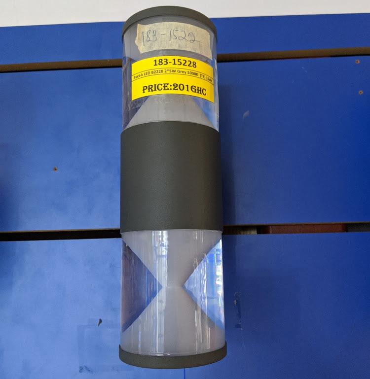 Svet-k LED B2228 2*5W Grey 5000K (TS) 10sht
