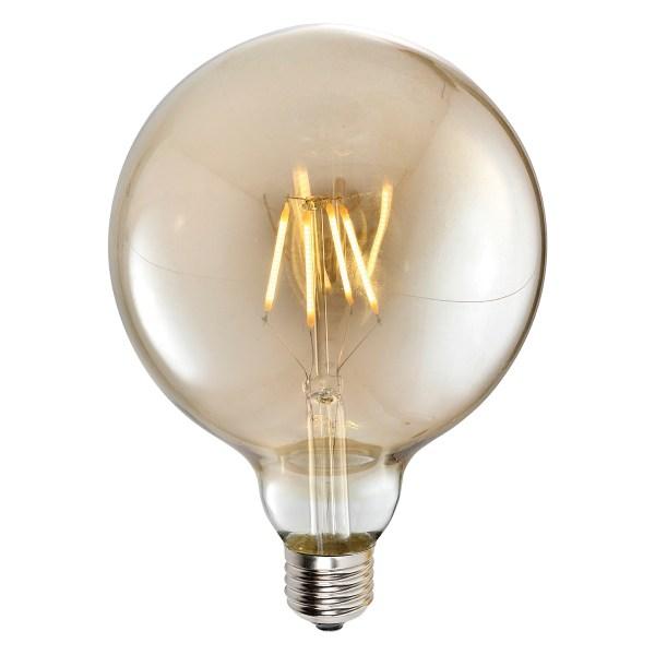LampaLED G125 4W AMBER E27 2700K 220V (TL) 50sh