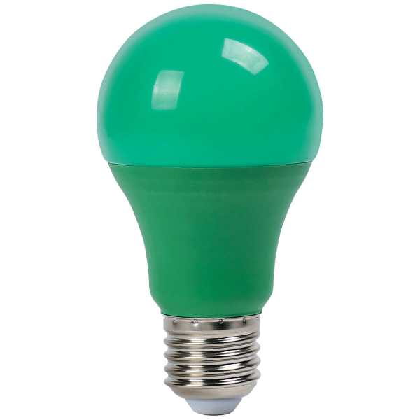 Lampa LED A60 9W NEW E27 GREEN 100-265V (TL)100sht