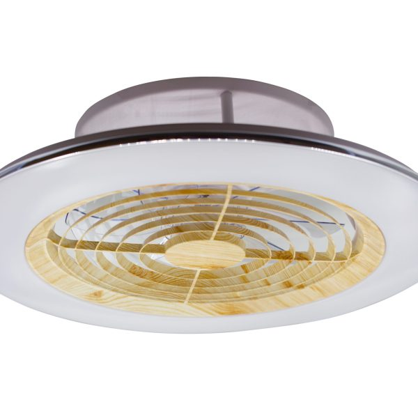 LED Brisa 105W 3000-6500K with remote WOODEN