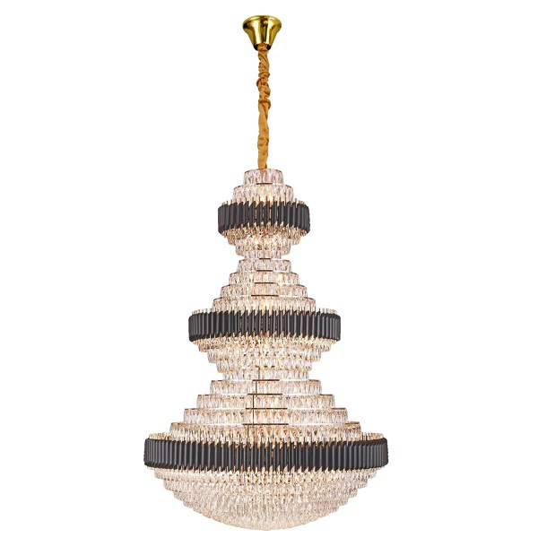 Lyustra 5231-78L 78xE14 Crystal And Gold Chandelier