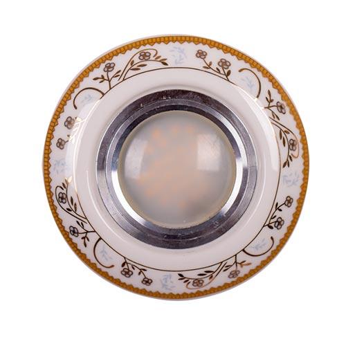 Spot LED ZP111-4 ROUND WHITE GOLD (TEKLED) 100sht