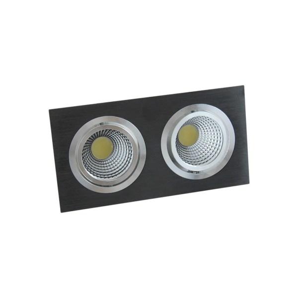 Svet-k LED OC004B 2х10W 5000K BLACK (TS) 30sht