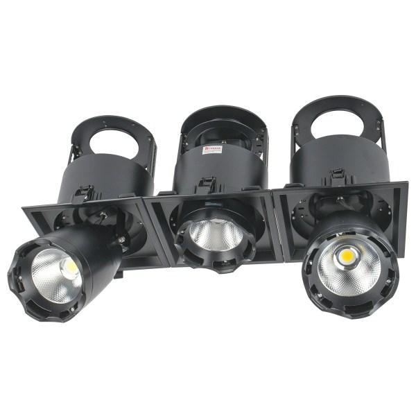 Sv-k DL LED LS-DK914-3 3x40W BLACK 5700K(TS)4sh