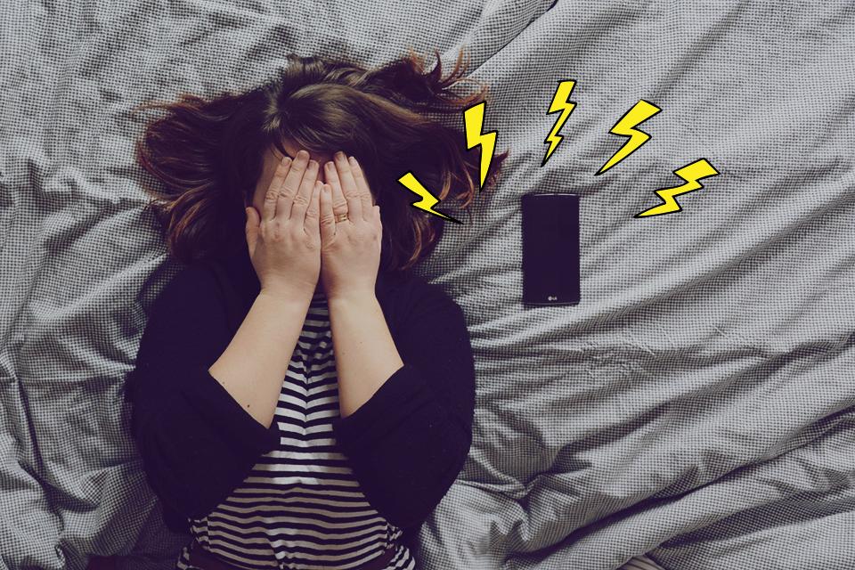 stressad av sociala medier notiser slå av stör ej iphone android