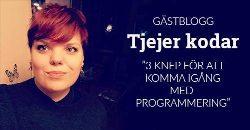 Elisabeth Tjejer kodar gästblogg komma igång programmering