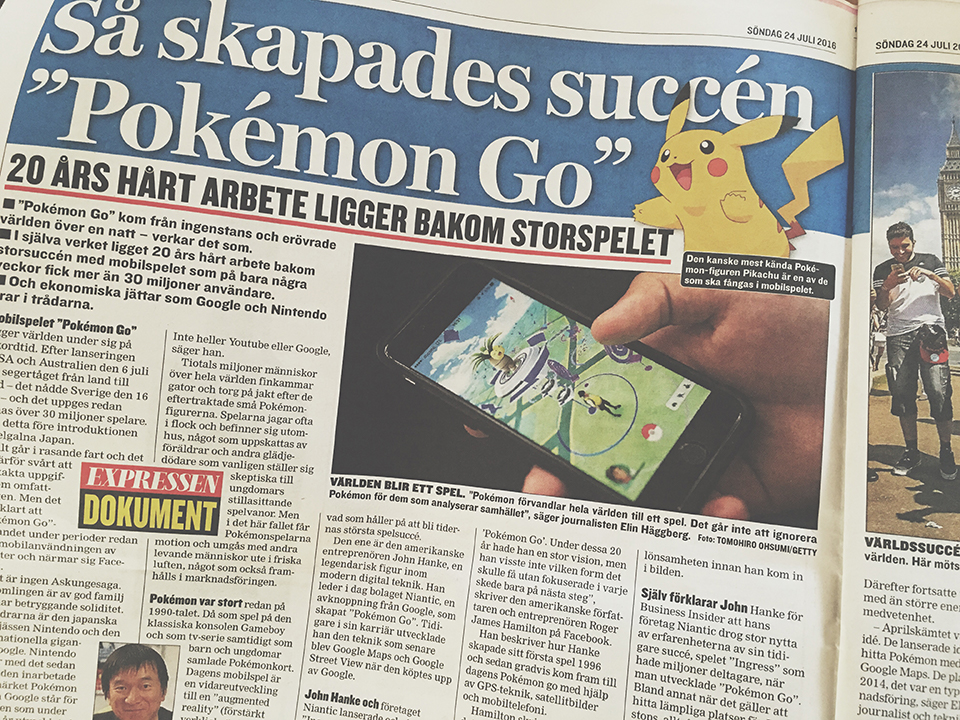 expressen Pokemon Go blogg