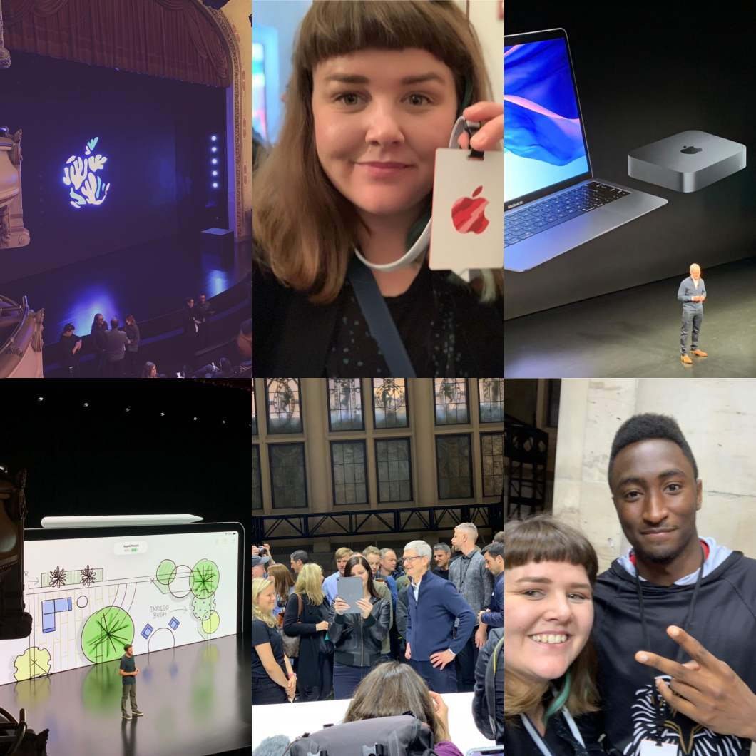 apple event collage