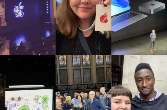 apple event collage
