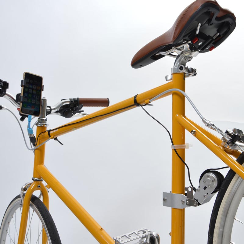 bycycle powered usb charger