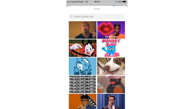 iphoneda whatsappdan gif gönderme