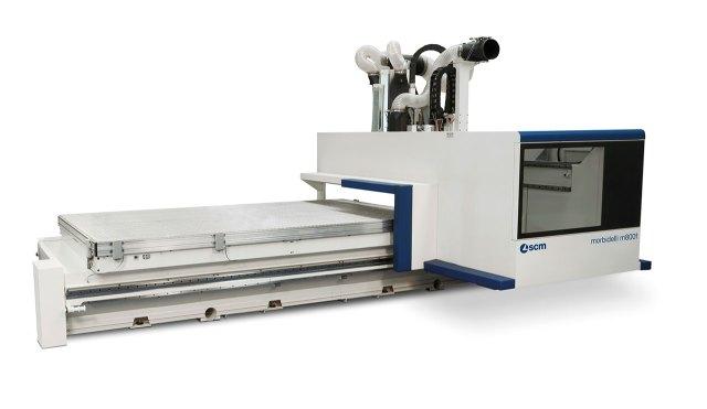 Обрабатывающий центр с ЧПУ для сверления и фрезерования MORBIDELLI M 800F, производство SCM Италия