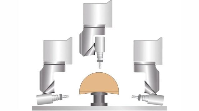 Обрабатывающий центр с ЧПУ Morbidelli M 100/200 F, производство SCM Италия, схема наклона