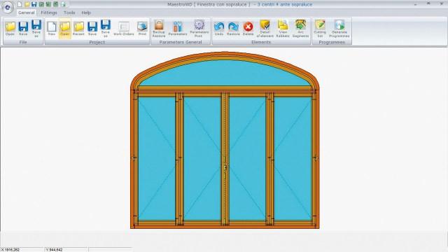Модуль для проектирования дверей и окон Maestro WD ACCORD 25 FX, производство SCM (Италия)