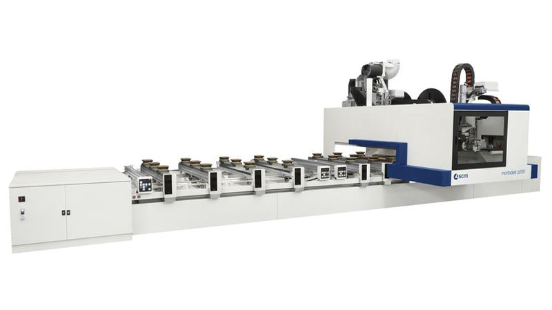 Обрабатывающий центр с ЧПУ для кромкооблицовки MORBIDELLI P 200, производство SCM Италия