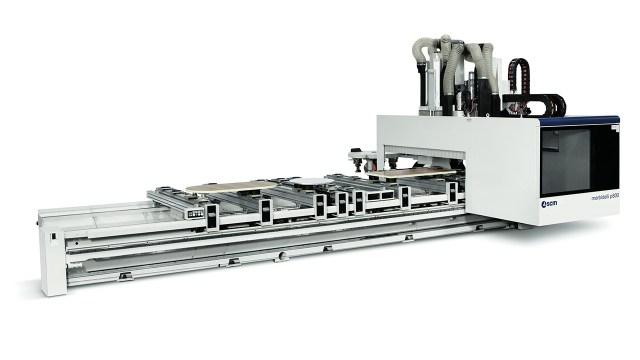 Обрабатывающий центр с ЧПУ для производства мебели Morbidelli P800, производство SCM (Италия)