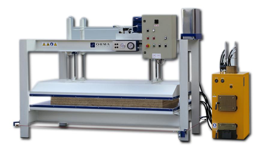 Горячий пресс C PCL, производство ORMA Machine Италия