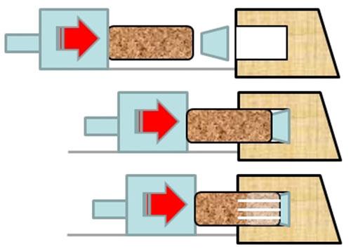 Шкантозабивка с применением гранулированного клеевого состава Morbidelli M 100/200, производство SCM (Италия)