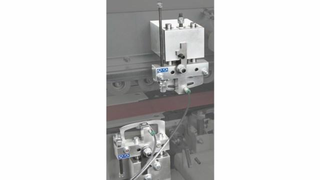 Клеево-скребковая группа автоматического кромкооблицовочного станка Minimax ME 40, производство SCM Италия