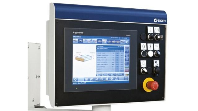 Кромкооблицовочный станок Olimpic K 560, производство SCM Италия, сенсорная панель управления