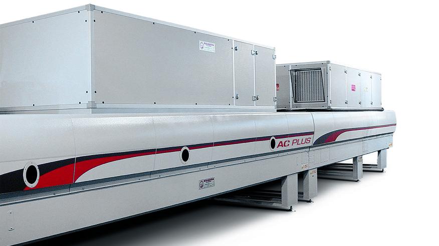 Туннель сушки ламинарным потоком горячего воздуха АС, производство Giardina Group Италия