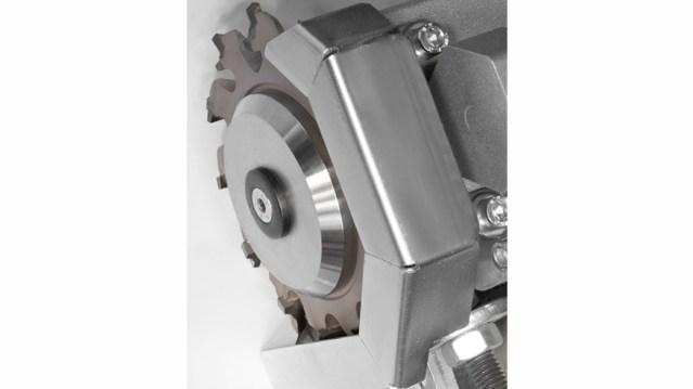 Автоматический кромкооблицовочный станок Minimax ME 40 TR, производство SCM Италия, головка радиатора