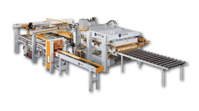 Автоматическая линия по производству мебельного щита на основе горячего пресса LS/СА, производство Orma Macchine Италия