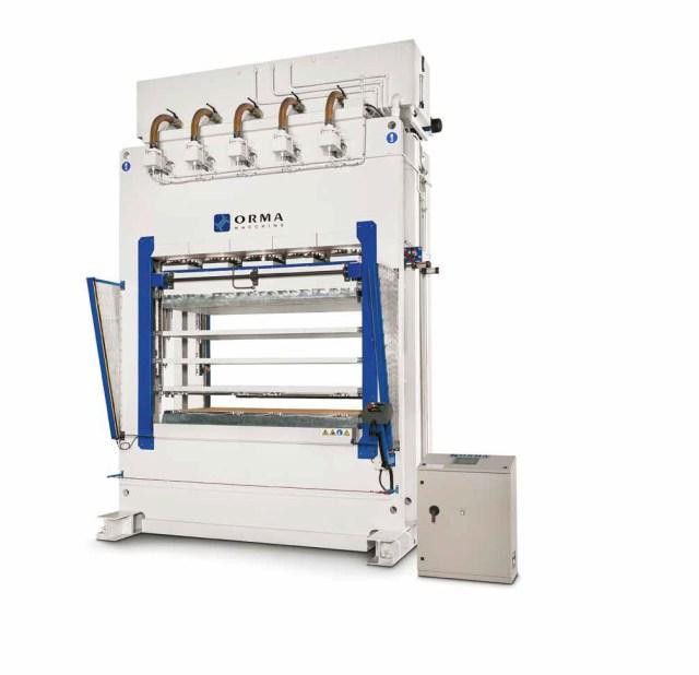 Пресс для штамповки древесины PSA SKIN DOOR, производство Orma Macchine Италия