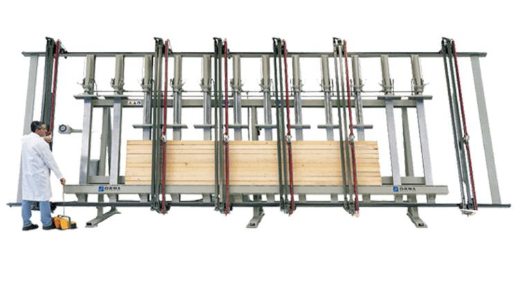Пресс для производства слоеных балок SPL, производство Orma Macchine Италия