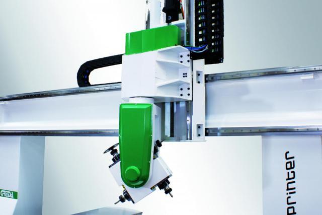 4 независимых электрошпинделя обрабатывающего центра с ЧПУ SPRINTER R3 CU, производство Greda Италия