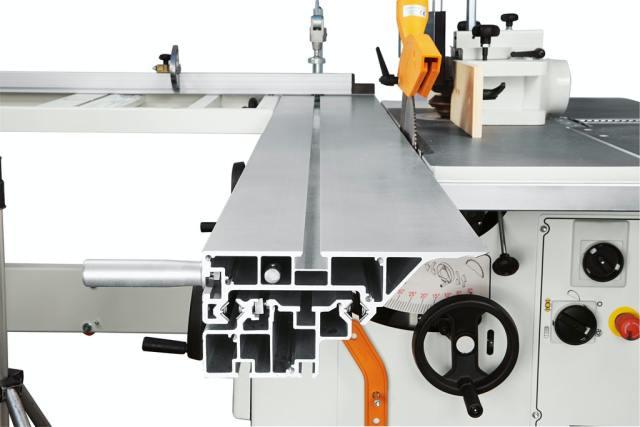 Структура каретки круглопильно-фрезерного станка Minimax ST 3C, производство SCM Италия
