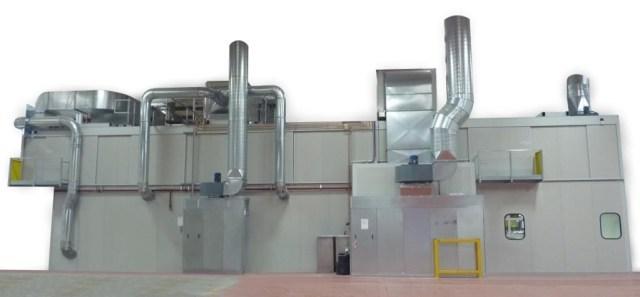 Припотолочный сушильный туннель системы окраски Bilancelli, производство Giardina Group Италия