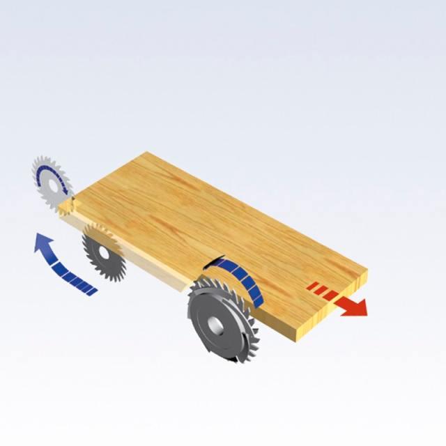 Группы подрезки и дробилки станка Celaschi P 30