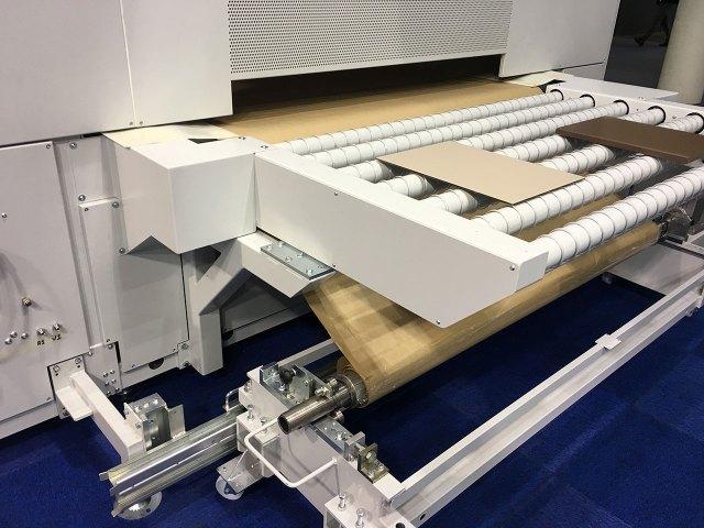 Автомат окраски распылением с бумажным транспортёром Dualtech-420 SBC, производство Giardina Group (Италия)