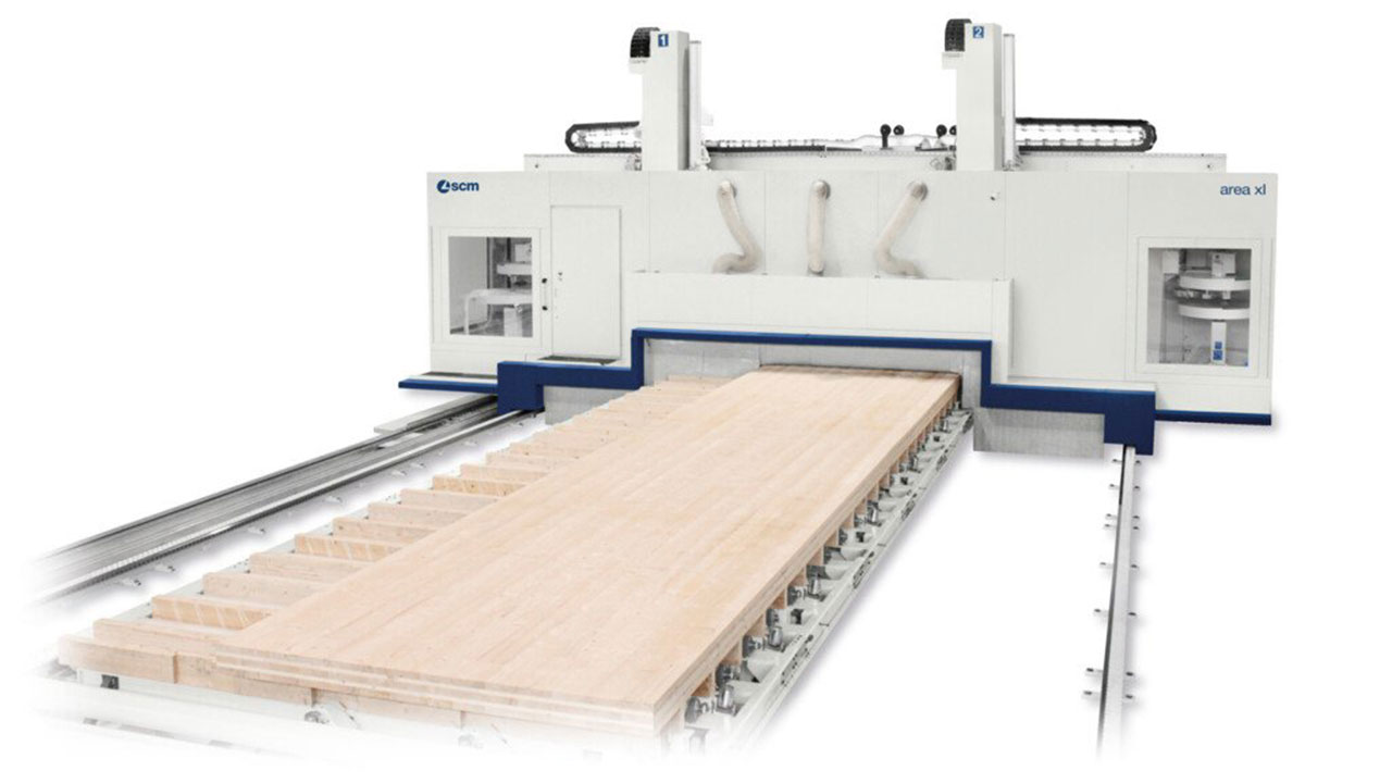 5-ти осевой обрабатывающий центр с ЧПУ с подвижной портальной конструкцией AREA XL, производство SCM (Италия)