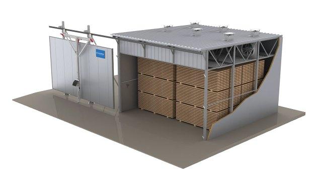 Традиционная сушильная установка с водяными радиаторами ICD, производство Incomac (Италия)