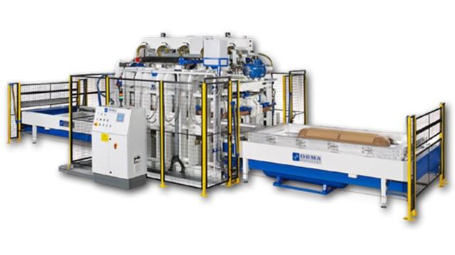 Мембранный пресс для гнутых панелей AUTOMATION PANNELLI CURVI, производство ORMA Macchine (Италия)
