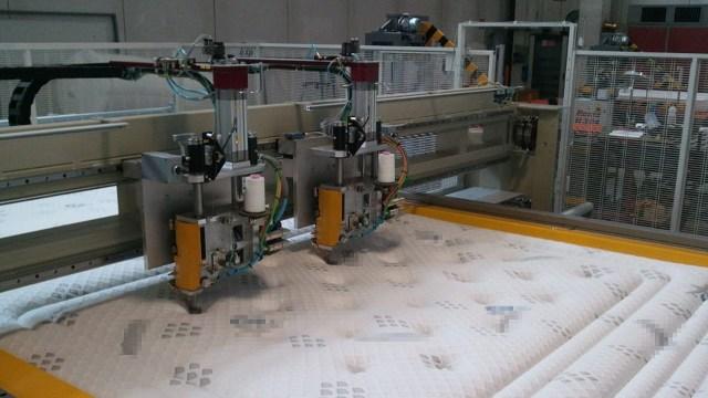 Стегальная машина с рулонной подачей и 2-я головами FURBA H220 С2T, производство Resta (Италия)