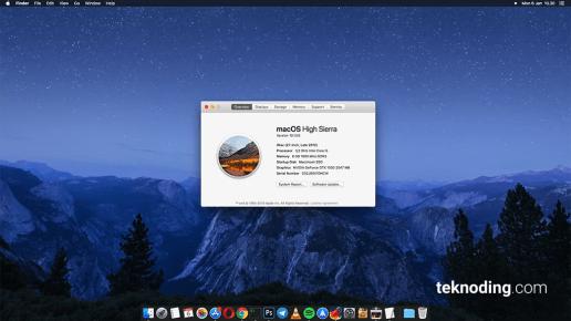 Tampilan Beranda Wallpaper Home Mac OS High Sierra