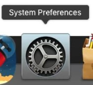 System Preferences icon dock mac os x