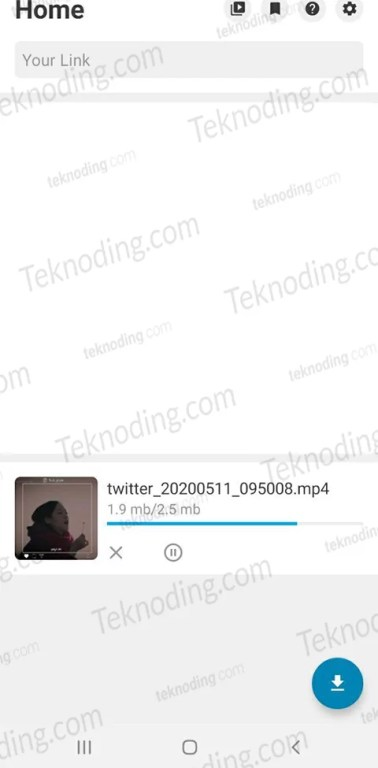 cara download video twitter dengan aplikasi