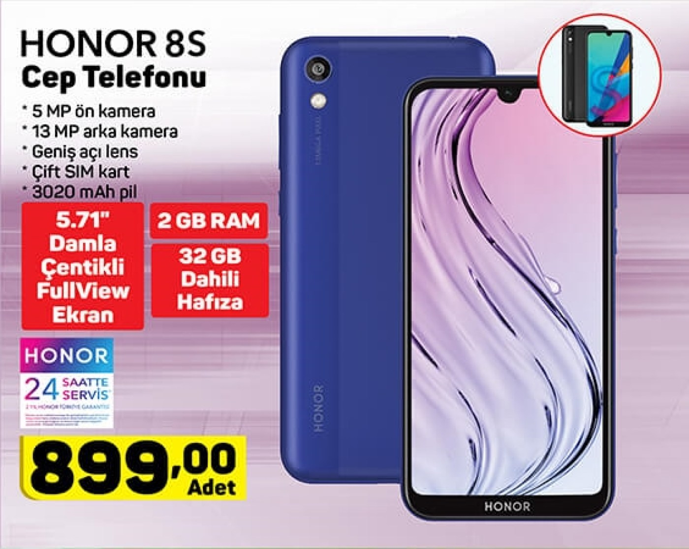 A101 Aktüel 26 Mart: Honor 8S, Smart TV ve Dahası