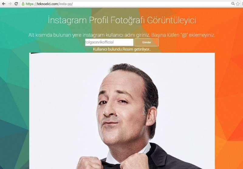 instagram profil resmi büyük görme