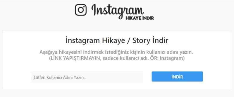 instagram başkasının hikayesini indirme 2018