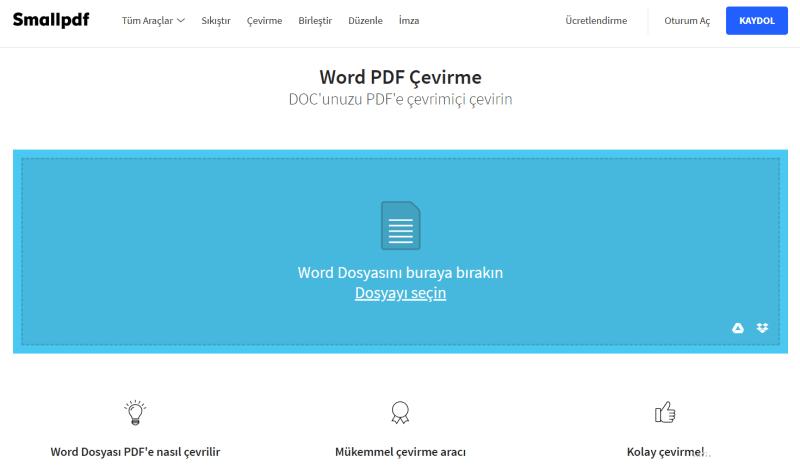 word dosyasını pdfe çevirme