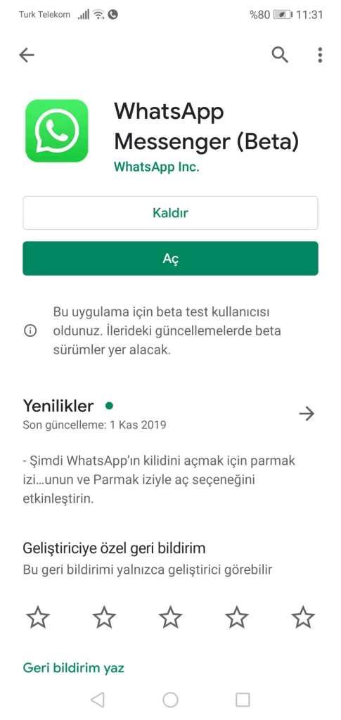 Whatsapp Beta Programına Katılmak