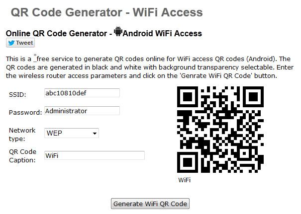 Web para generar código QR de tu conexión Wi-Fi