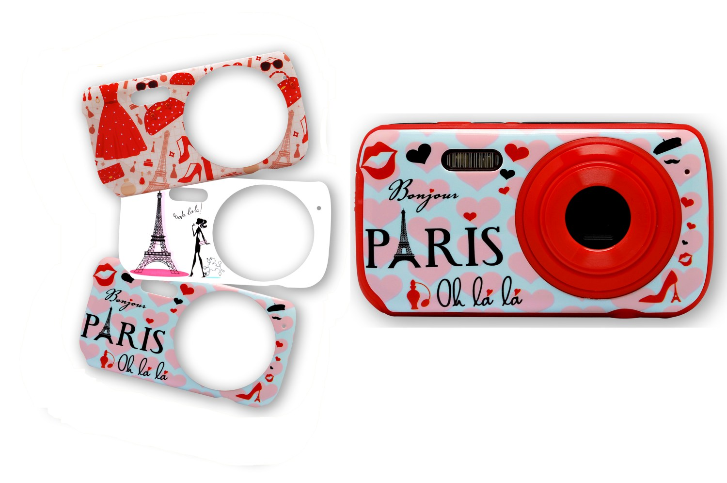 Digital Camera with 3 interchangeable faces Paris Fashion 1