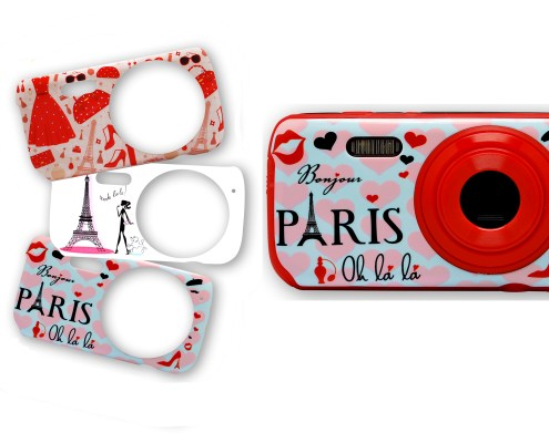Digital Camera with 3 decorative Girly Illustrations 4