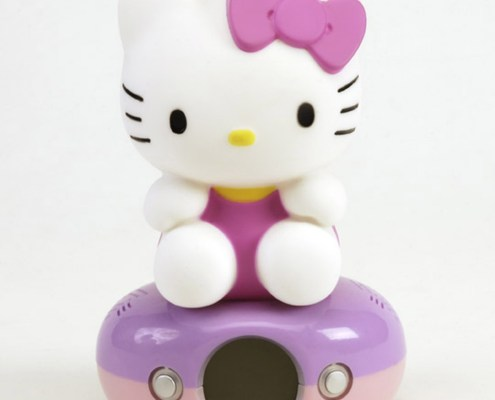 Night Light Digital Alarm Clock HELLO KITTY PINK DRESS 3